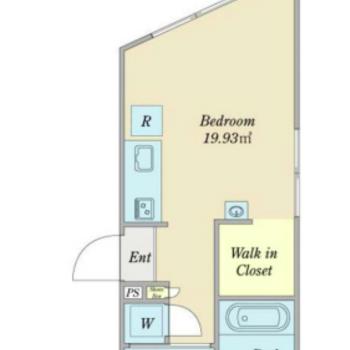 2階の角部屋です。