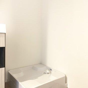 選択パンは脱衣所に。水回りはまとまっています。(※写真は4階の同間取り別部屋のものです)