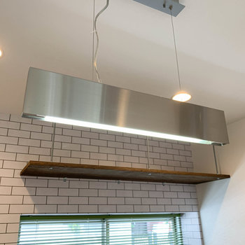 【ディティール】キッチンの照明も良い味出してます。