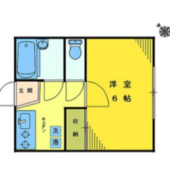 お部屋が2つに均等に分けられてますね