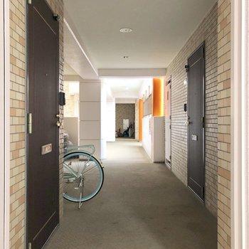3Fの廊下。右のドアが今回のお部屋。
