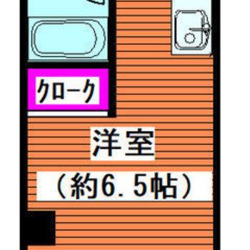 バルコニーが小さい!角の多いお部屋です。