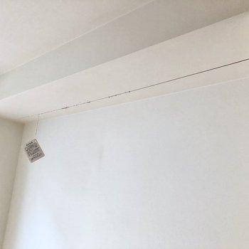洗濯物はこちらに※写真は2階の同間取り別部屋のものです