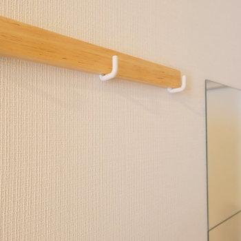 【完成イメージ】お部屋の中にはコート掛けもつきますよ。