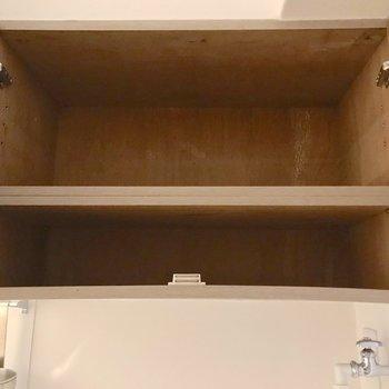 洗濯機置場の上の棚がシューズボックスになりそう。