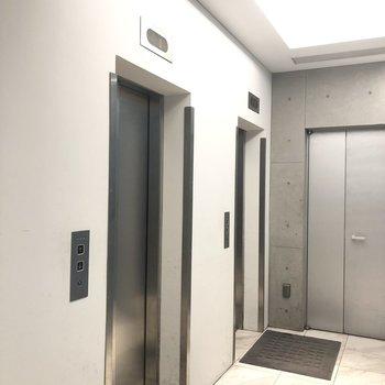 高いお部屋なので、エレベーターが2つあり混雑しなさそうです。