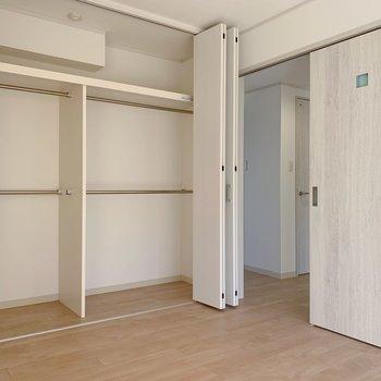 こちらのお部屋も収納が大容量でした…!断捨離いらずかも。