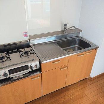 【LDK】作業スペースも広く、料理しやすそうですね。