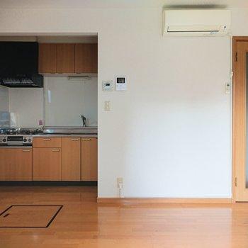 【LDK】隅にキッチンがありましたよ