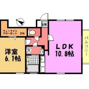 1LDKのお部屋ですよ。
