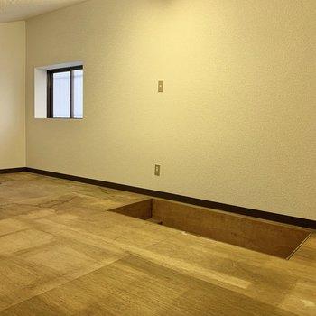 【グルニエ】床はありのままの木なので、お部屋にするのは向かないかな……