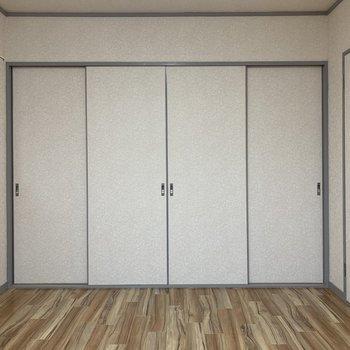 【洋室③】4枚の引き戸を開くと、