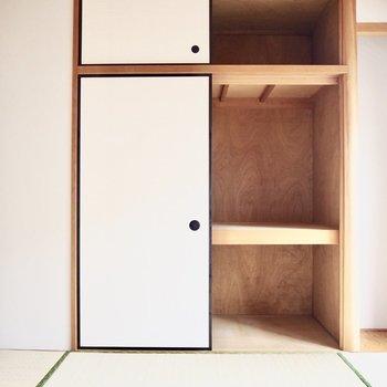 【和室】押入れがあります。天袋もありたくさん収納できます。※写真は前回募集時のものです