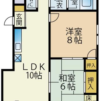 和室のある2LDKのお部屋です。