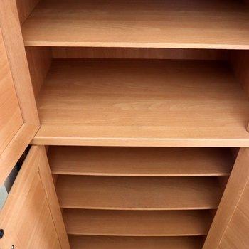木製のシューズボックス