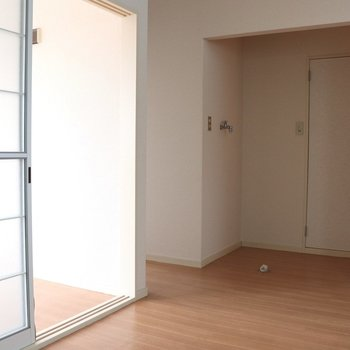 【DK】壁側から見ると、正面はトイレドア