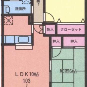 和室がある2LDKのお部屋です