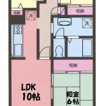 和室がある3LDKのお部屋です