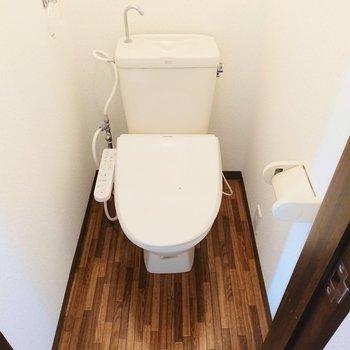 温水洗浄便座付きのトイレで◎