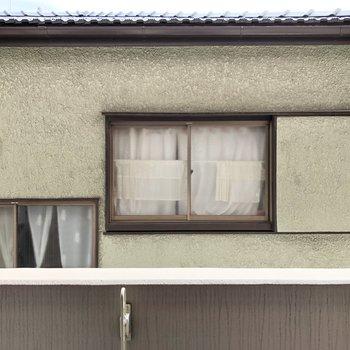 そんなバルコニーからはお家が見えます