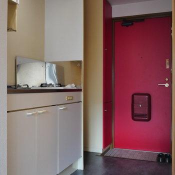 廊下兼キッチン。