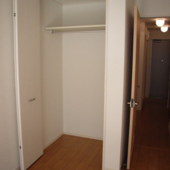 収納。奥行きもありました。※写真は2階の同間取り別部屋のものです