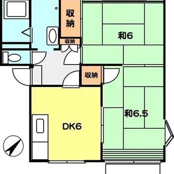 約6.5帖の和室と表記があるお部屋は、洋室にリフォームされています。※間取り図は反転間取りのものです