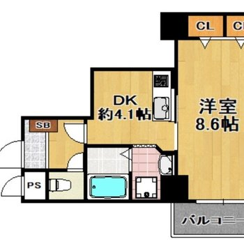キッチンと寝室を分けたい方にうれしい間取り!