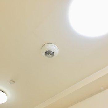 天井にはスピーカーもありますよ♪
