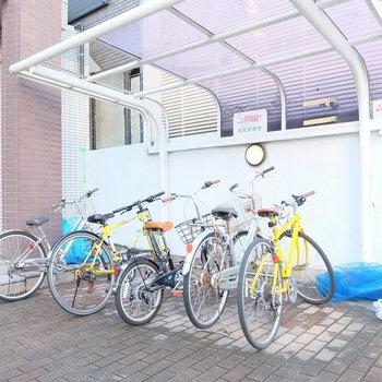 自転車置き場もあり!