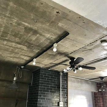もちろん天井にはライティングレールがありました