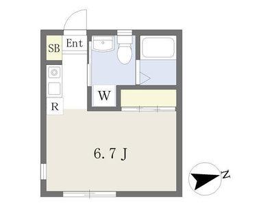 東長崎2分アパート の間取り