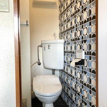 トイレもウォシュレット付きで快適です。(※写真は清掃前のものです)
