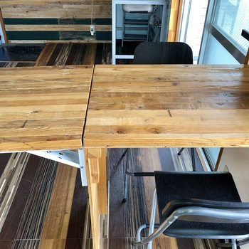 テーブルは延長できます!来客時に嬉しいな〜!(※写真は清掃前のものです)