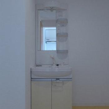 洗面台も独立です。(※写真は9階の同間取り別部屋のものです)(※仕様が一部異なる場合がございます)