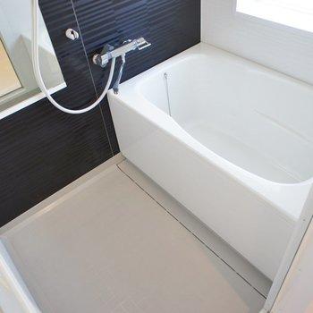 お風呂にもしっかりと太陽光!。※写真は202号室のもの