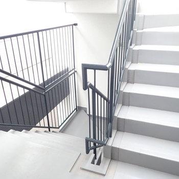 基本エレベーターですが、階段もあります。