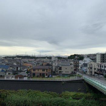 そしてこの眺望!高い建物がなく抜け感あります〜!