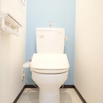 清涼感溢れるトイレ。