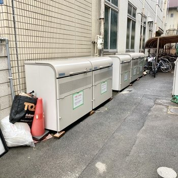 ゴミ置き場も敷地内にありますよ。