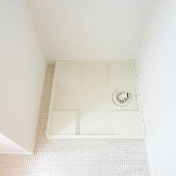 洗濯パンもありますよ。(※写真は4階の同間取り別部屋のものです)