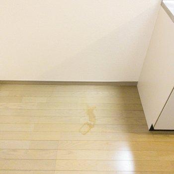 冷蔵庫置き場はキッチン横に。