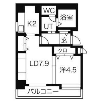 LDと洋室は2段の段差と収納で間仕切り
