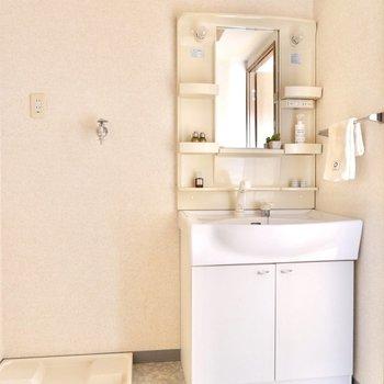 独立洗面台もありますよ。