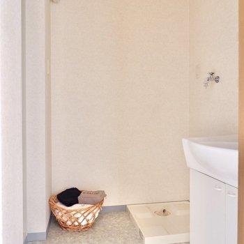 脱衣スペースも十分にある洗面所へ。