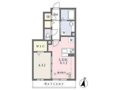 武蔵浦和4分アパート の間取り