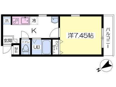西武柳沢9分アパート の間取り
