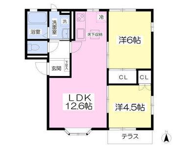 上板橋12分アパート の間取り
