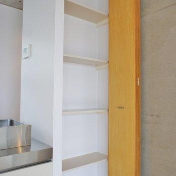 ちょっとした収納棚※写真は同タイプの別室。