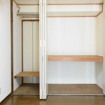【2階】左のクローゼットが水回りとつながっているんです!